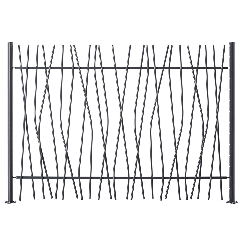 cl ture barreaud e brindille en acier haut 120 x larg 200 cm leroy merlin. Black Bedroom Furniture Sets. Home Design Ideas