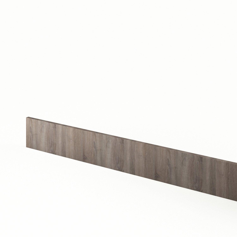 Plinthe de cuisine d cor ch ne havane topaze l 270 x h 14 9 cm leroy merlin - Ouverture leroy merlin 14 juillet ...