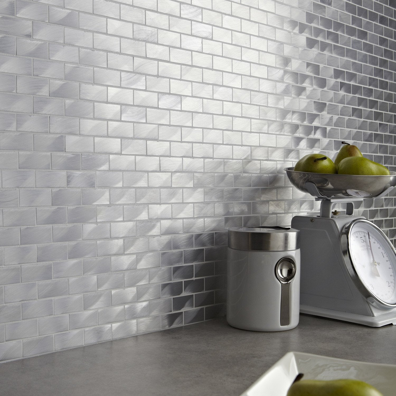 mosa que mur urban life alu naturel leroy merlin. Black Bedroom Furniture Sets. Home Design Ideas