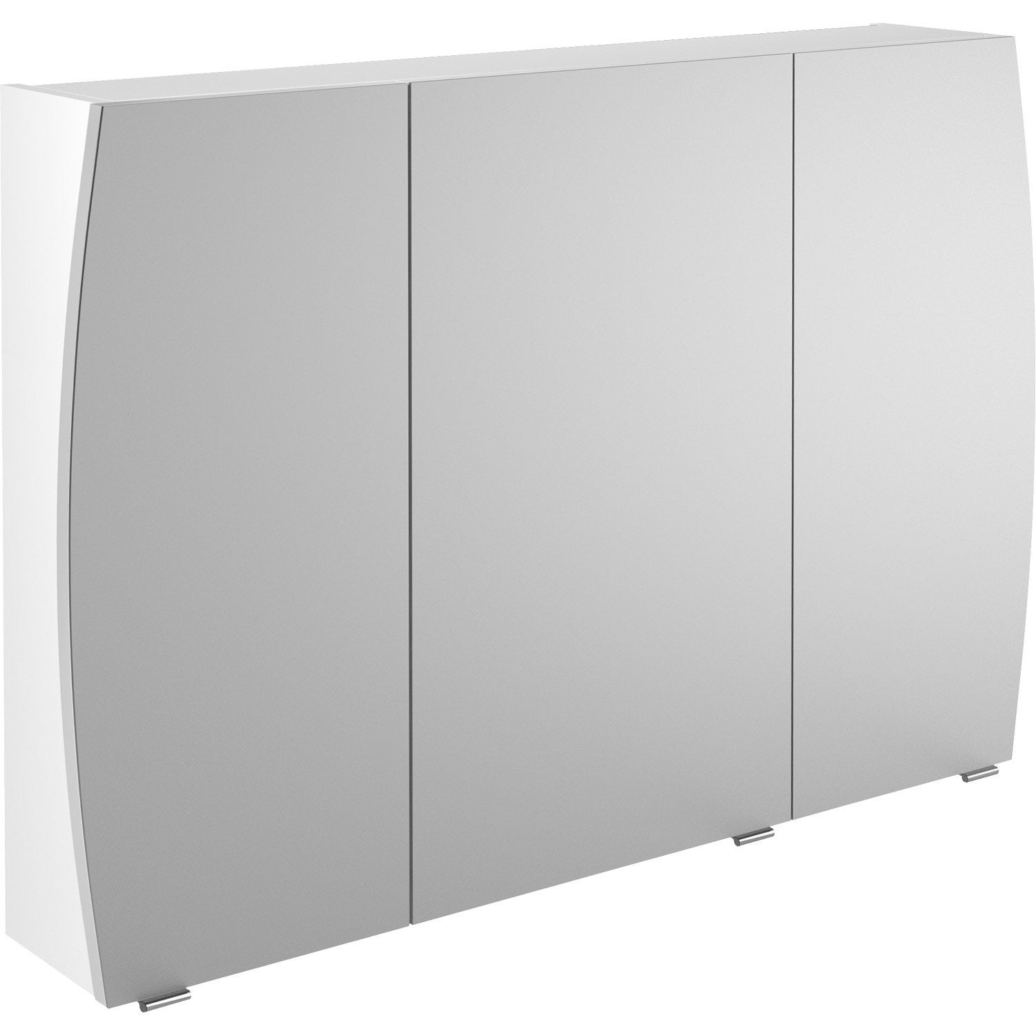 armoire de toilette l 100 cm blanc image leroy merlin. Black Bedroom Furniture Sets. Home Design Ideas