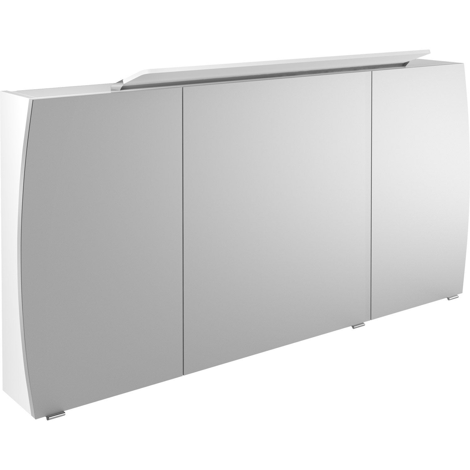 armoire de toilette lumineuse l 140 cm blanc image. Black Bedroom Furniture Sets. Home Design Ideas