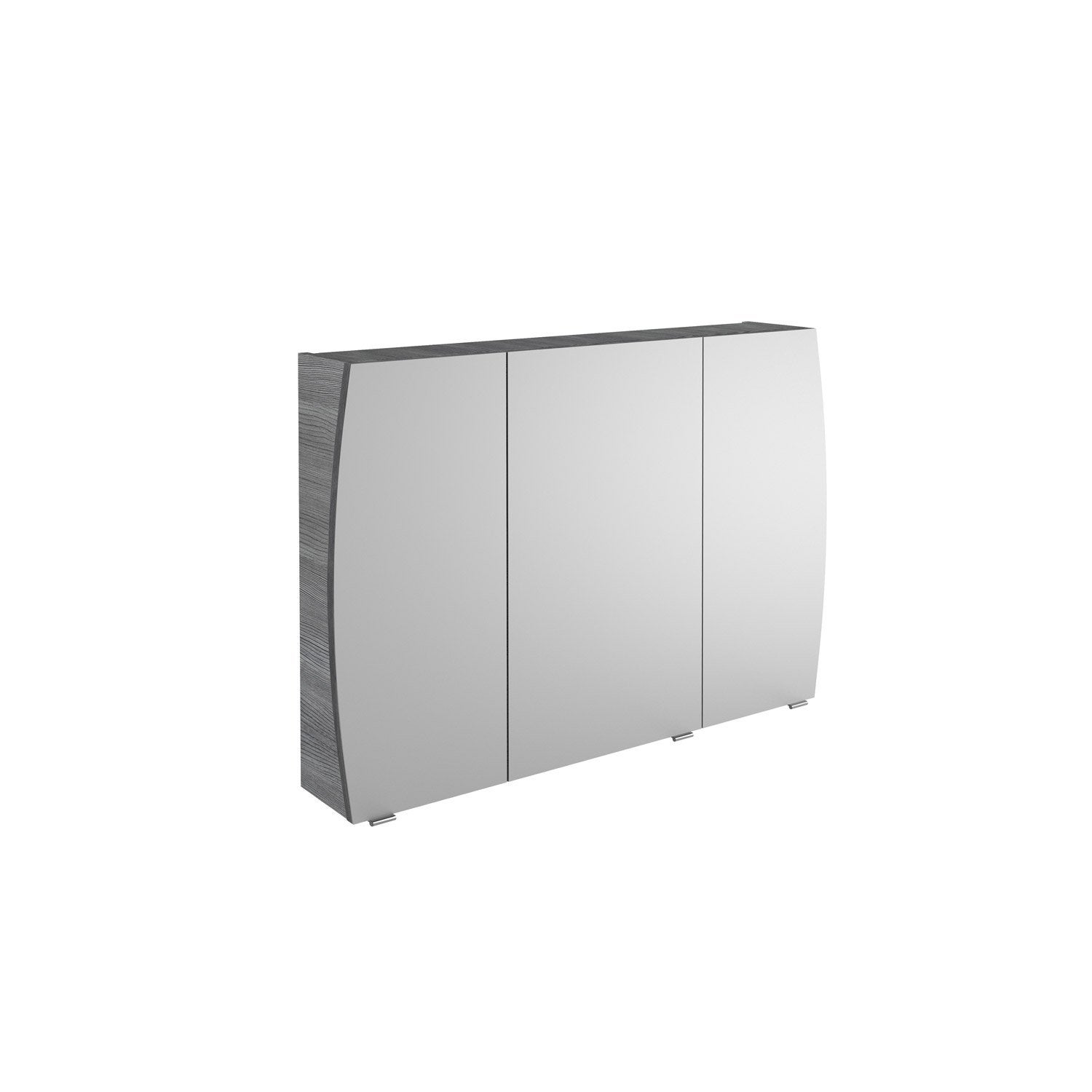 armoire de toilette l 100 cm gris structur image. Black Bedroom Furniture Sets. Home Design Ideas