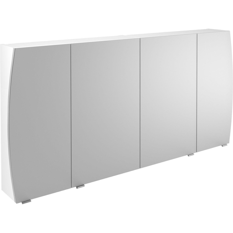 Armoire de toilette l. 140 cm, blanc Image | Leroy Merlin