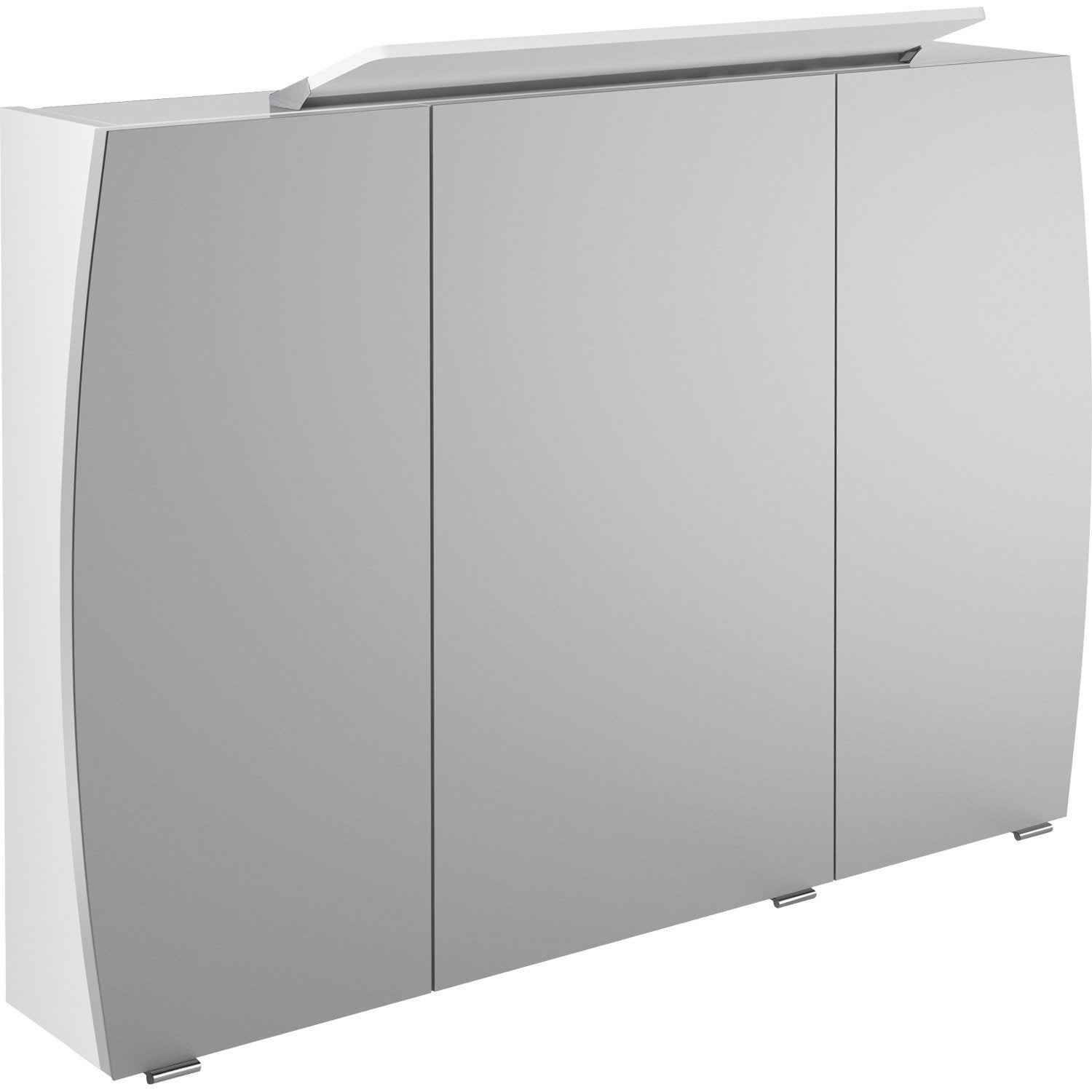 armoire de toilette lumineuse l 100 cm blanc image leroy merlin. Black Bedroom Furniture Sets. Home Design Ideas