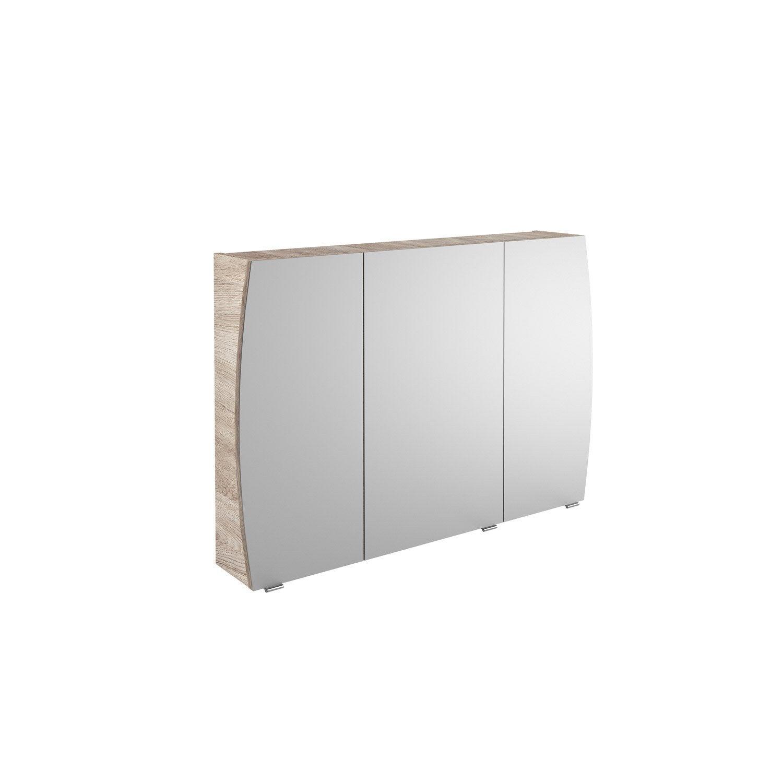 armoire de toilette l 100 cm imitation ch ne image. Black Bedroom Furniture Sets. Home Design Ideas