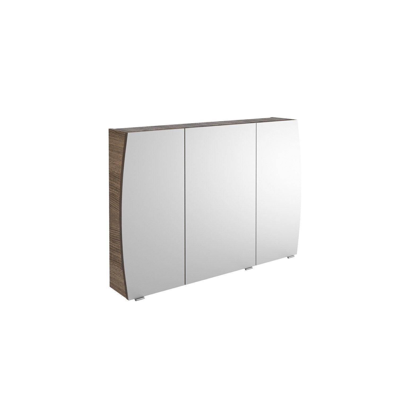 Armoire de toilette l 100 cm choco structur image for Leroy merlin armoire toilette