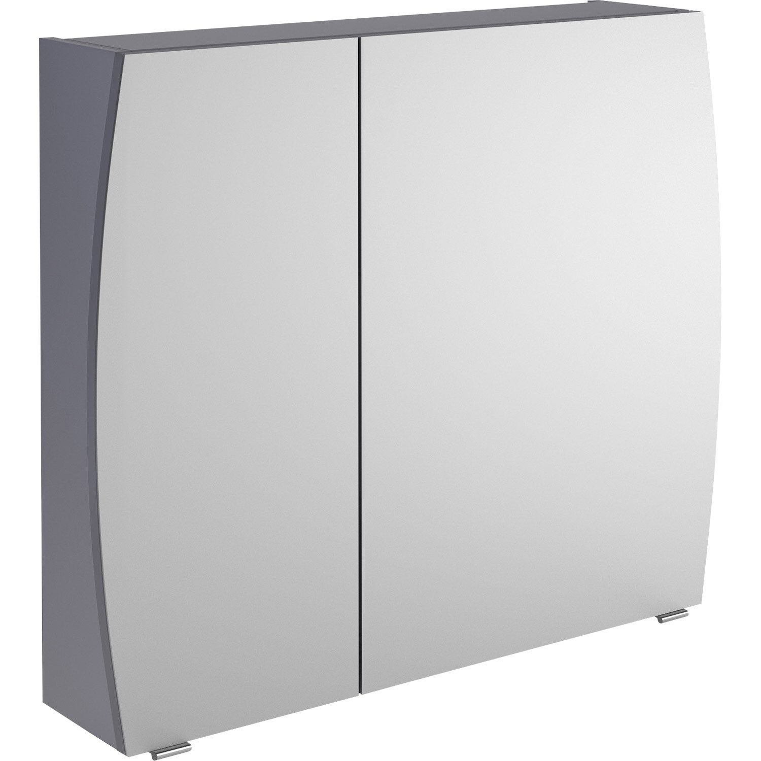 armoire de toilette l 80 cm gris image leroy merlin. Black Bedroom Furniture Sets. Home Design Ideas