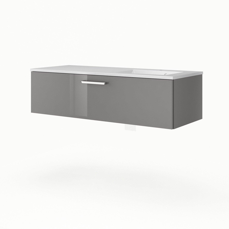 Meuble sous vasque x x cm gris sensea for Meuble sous vasque 120