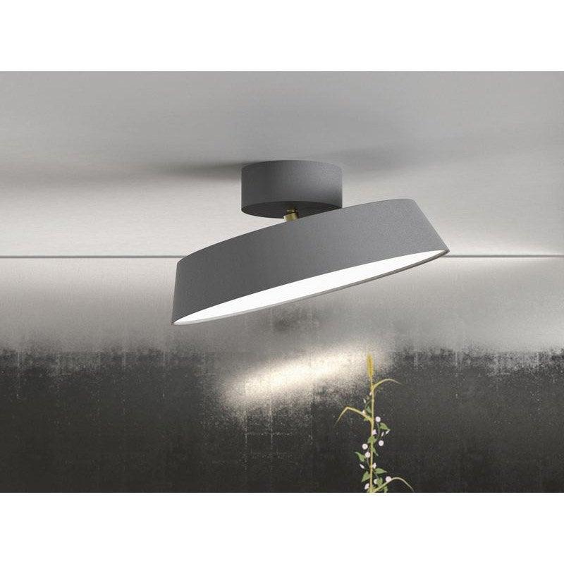 plafonnier design led int gr e alba m tal gris 1 nordlux. Black Bedroom Furniture Sets. Home Design Ideas