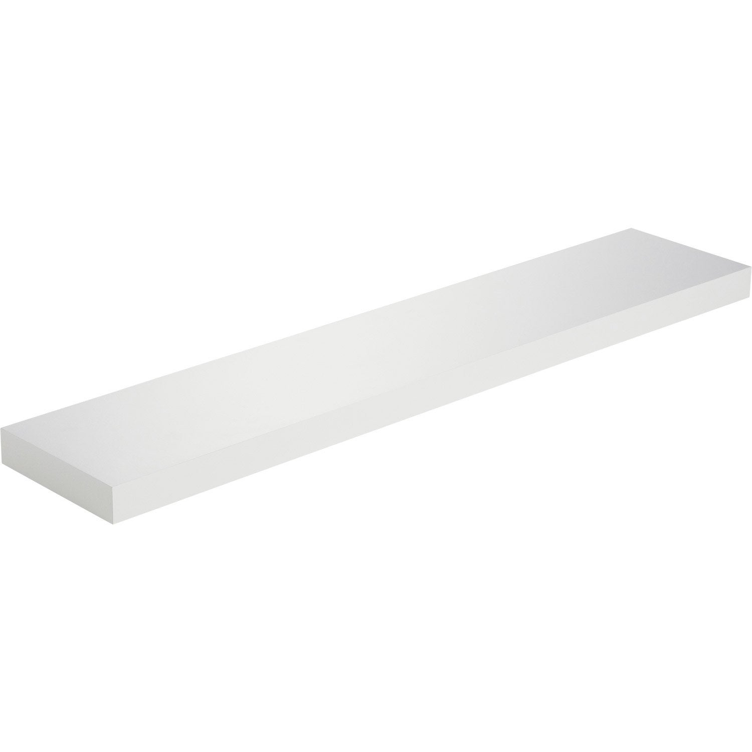 Etag re murale blanc spaceo x cm mm for Etagere murale salle de bain leroy merlin