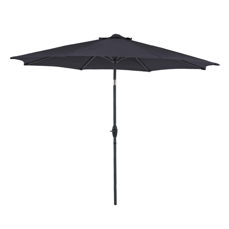 Parasol droit koeos gris octogonal x cm - Parasol deporte inclinable leroy merlin ...