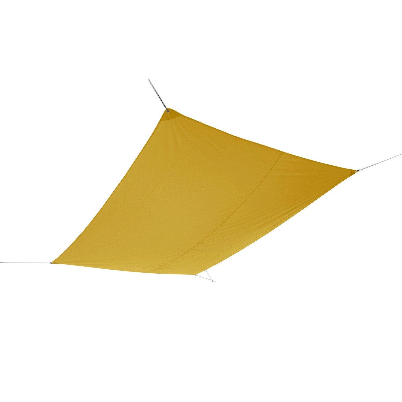 voile d 39 ombrage triangle brun bistro x cm leroy merlin. Black Bedroom Furniture Sets. Home Design Ideas