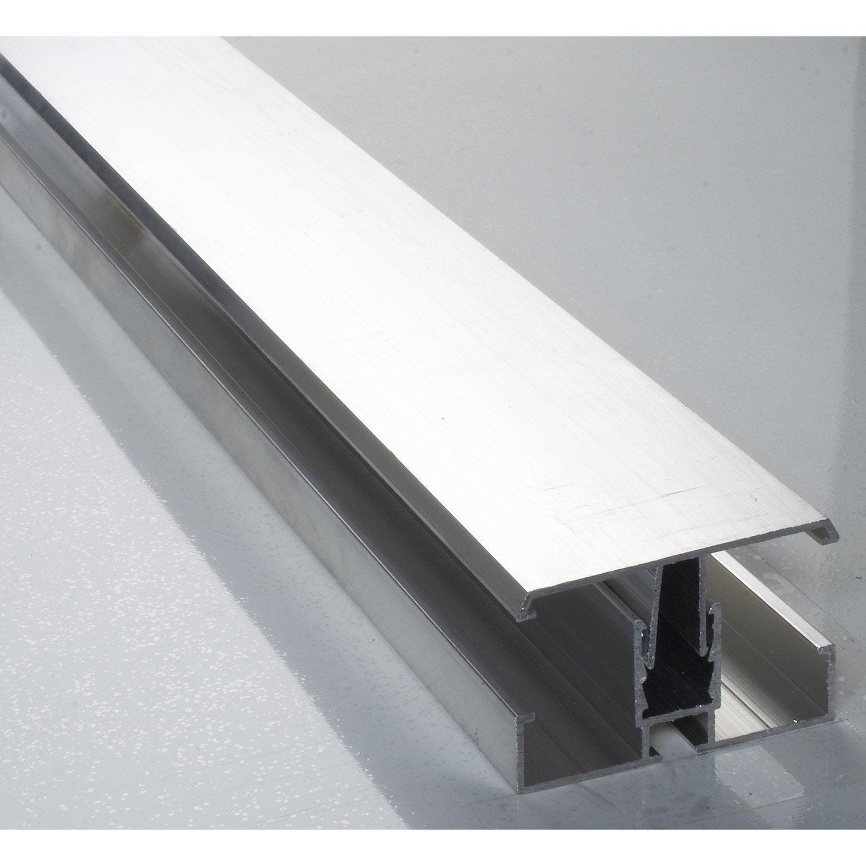Profil jonction pour plaque ep 16 32 mm aluminium l 3 m for Gres porcellanato 3 mm leroy merlin
