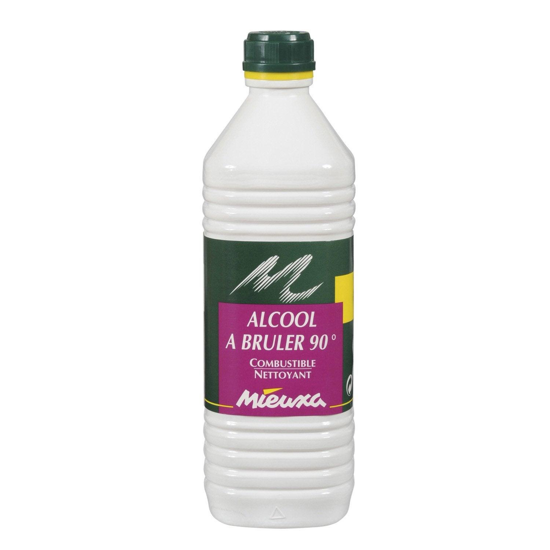 Alcool u00e0 bru00fbler MIEUXA, 1 l : Leroy Merlin