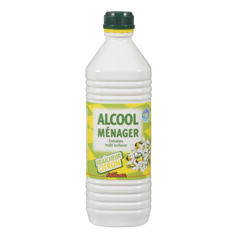 Alcool m nager senteur citron mieuxa 1 l leroy merlin for Alcool de verveine maison