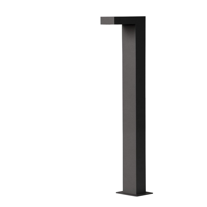 potelet ext rieur texas led int gr e 3 w 250 lm noir lucide leroy merlin. Black Bedroom Furniture Sets. Home Design Ideas