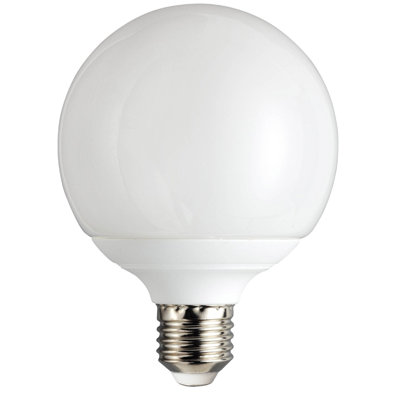 Ampoule Globe Conomie D 39 Nergie 18w Lexman E27 Lumi Re Chaude Env 2700k Leroy Merlin