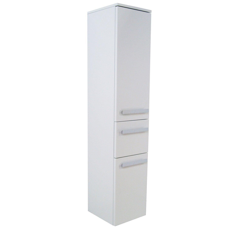 colonne image blanc 1 tiroir 2 portes leroy merlin. Black Bedroom Furniture Sets. Home Design Ideas