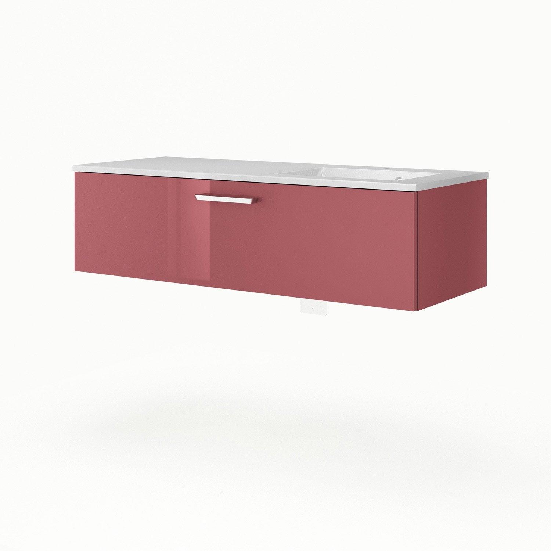 meuble vasque 121 cm rouge neo line leroy merlin. Black Bedroom Furniture Sets. Home Design Ideas