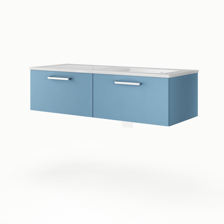 meuble sous vasque x x cm bleu sensea neo line leroy merlin. Black Bedroom Furniture Sets. Home Design Ideas