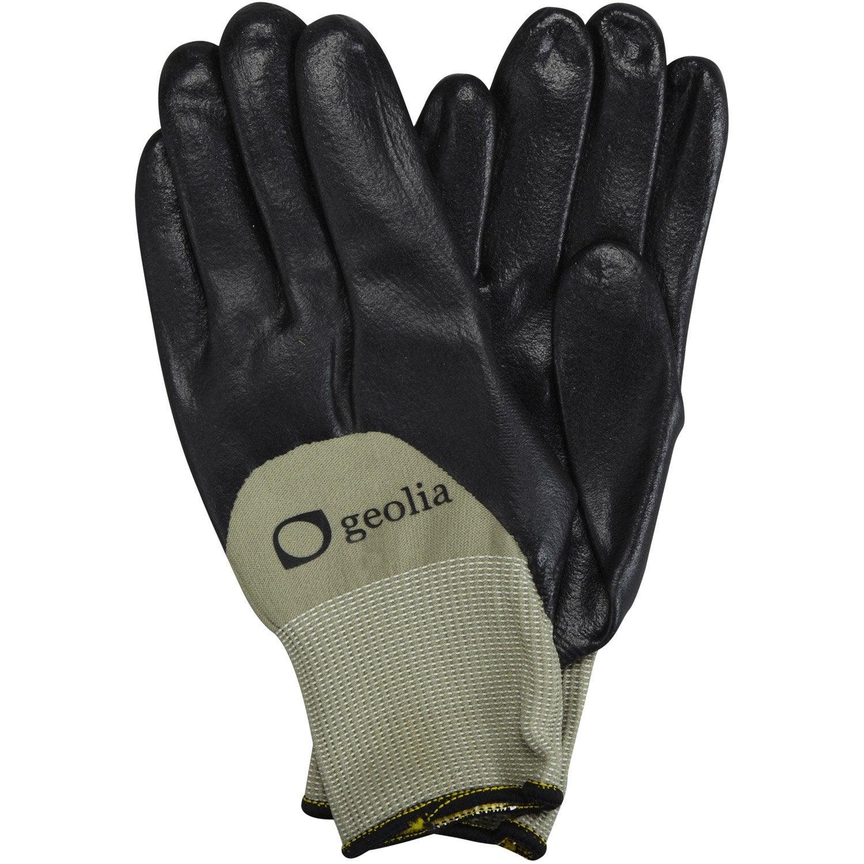 gants de plantation geolia gris taille 9 l leroy merlin. Black Bedroom Furniture Sets. Home Design Ideas