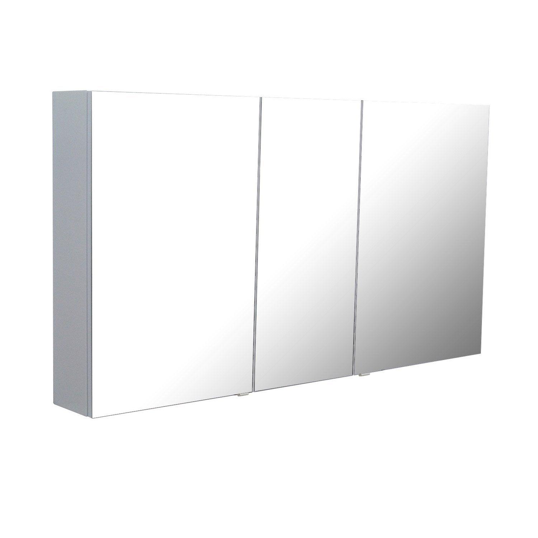 armoire de toilette image blanc l130xh72xp17 cm leroy. Black Bedroom Furniture Sets. Home Design Ideas