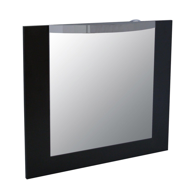Miroir avec clairage int gr image l70xh60xp3 2 cm - Miroir a coller leroy merlin ...