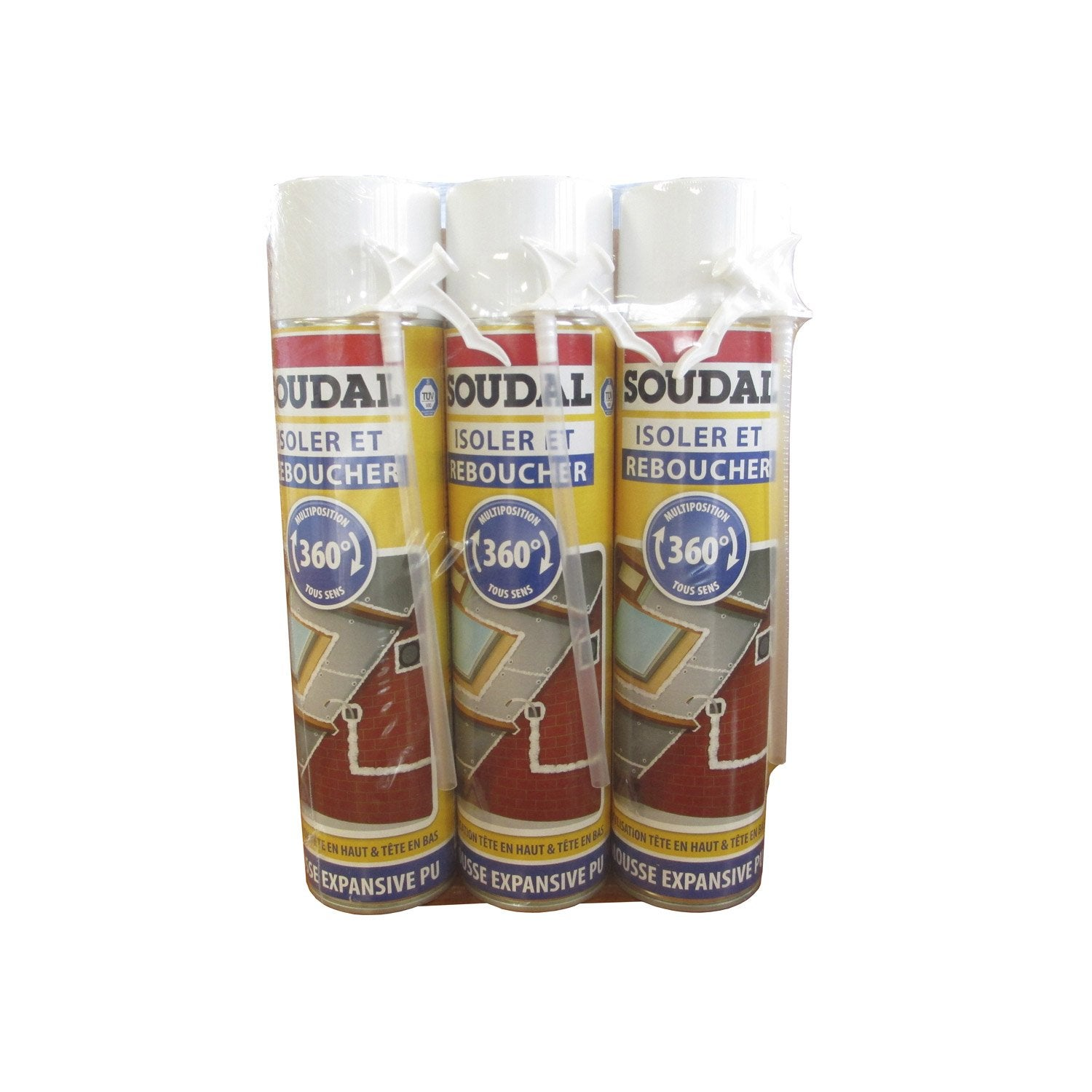 Lot de 3 mousses expansives isoler et reboucher soudal 500ml leroy merlin - Mousse acoustique leroy merlin ...