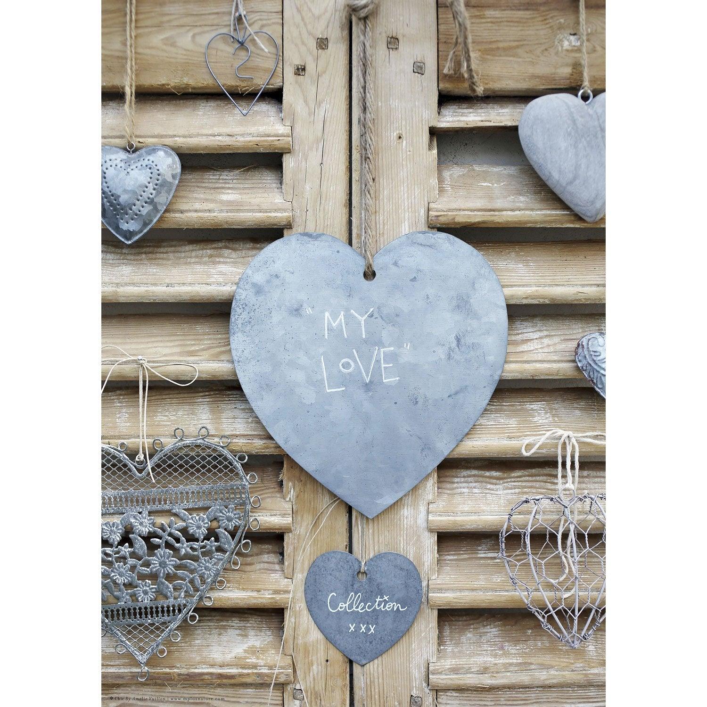 toile imprim e my love 50 x 70 cm leroy merlin. Black Bedroom Furniture Sets. Home Design Ideas