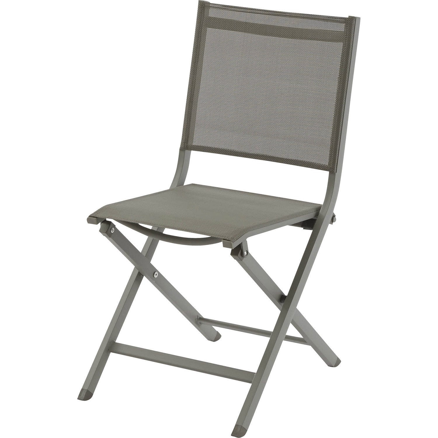Chaise de jardin en aluminium thema taupe leroy merlin for Chaise longue leroy merlin