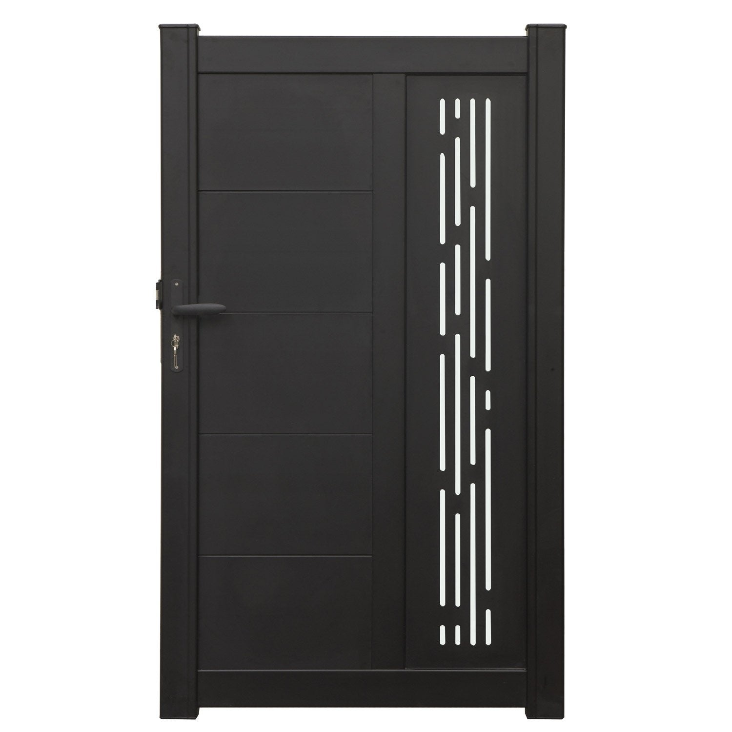 portillon battant en aluminium norfolk x cm leroy merlin. Black Bedroom Furniture Sets. Home Design Ideas