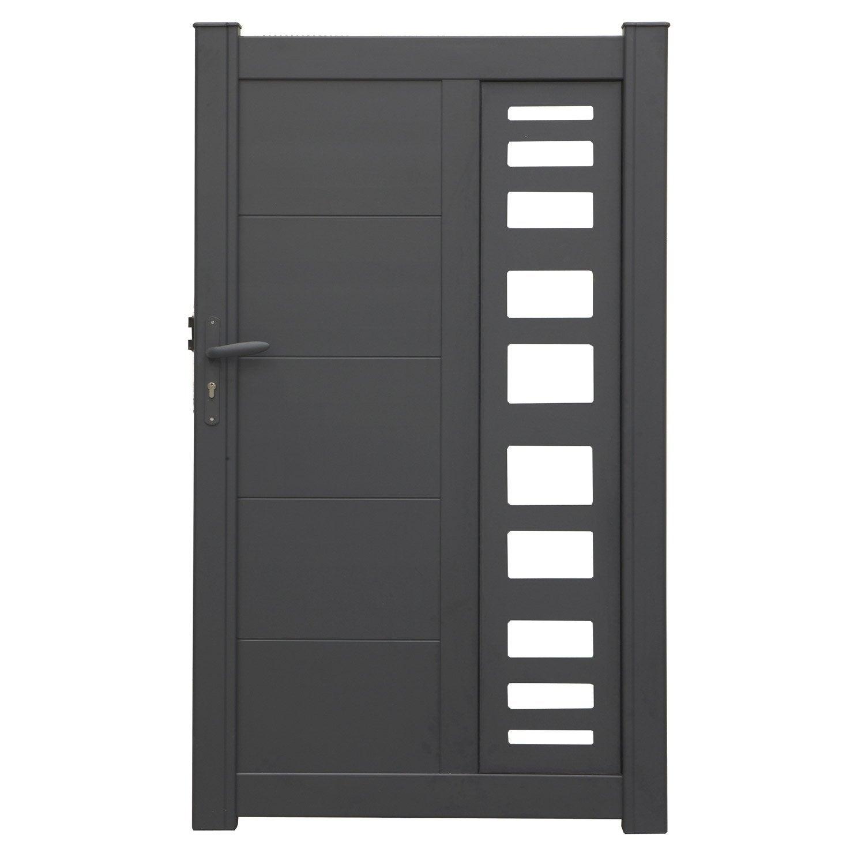portillon battant en aluminium portland x cm. Black Bedroom Furniture Sets. Home Design Ideas