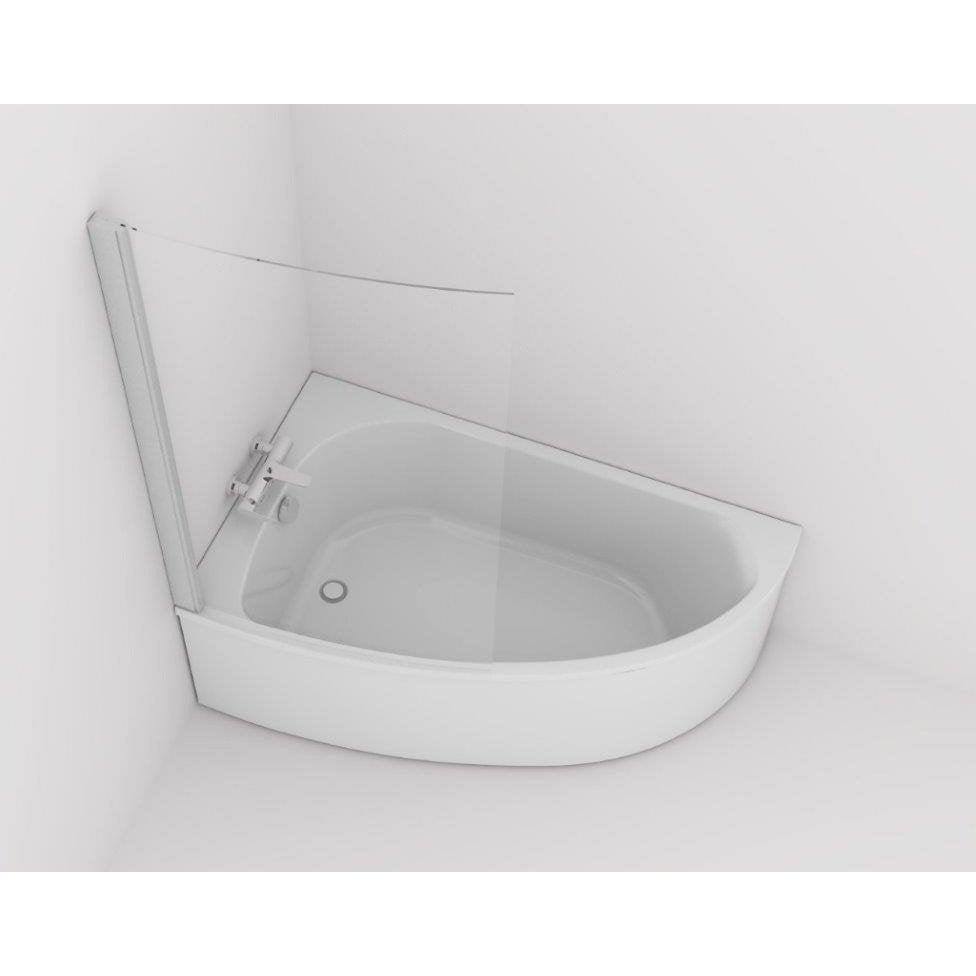 Baignoire asym trique gauche cm blanc jacob - Leroy merlin baignoires ...