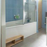 Baignoire L.160x l.85 cm, JACOB DELAFON Sofa bain et douche, vidage à droite