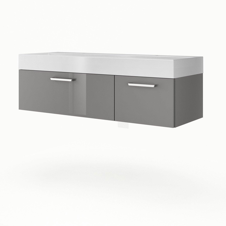 Meuble sous vasque x x cm gris sensea - Leroy merlin meuble sous vasque ...