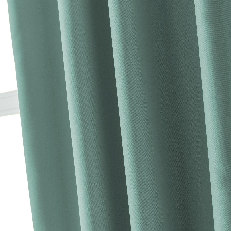 rideau occultant blackout bleu baltique n l x with rideau. Black Bedroom Furniture Sets. Home Design Ideas