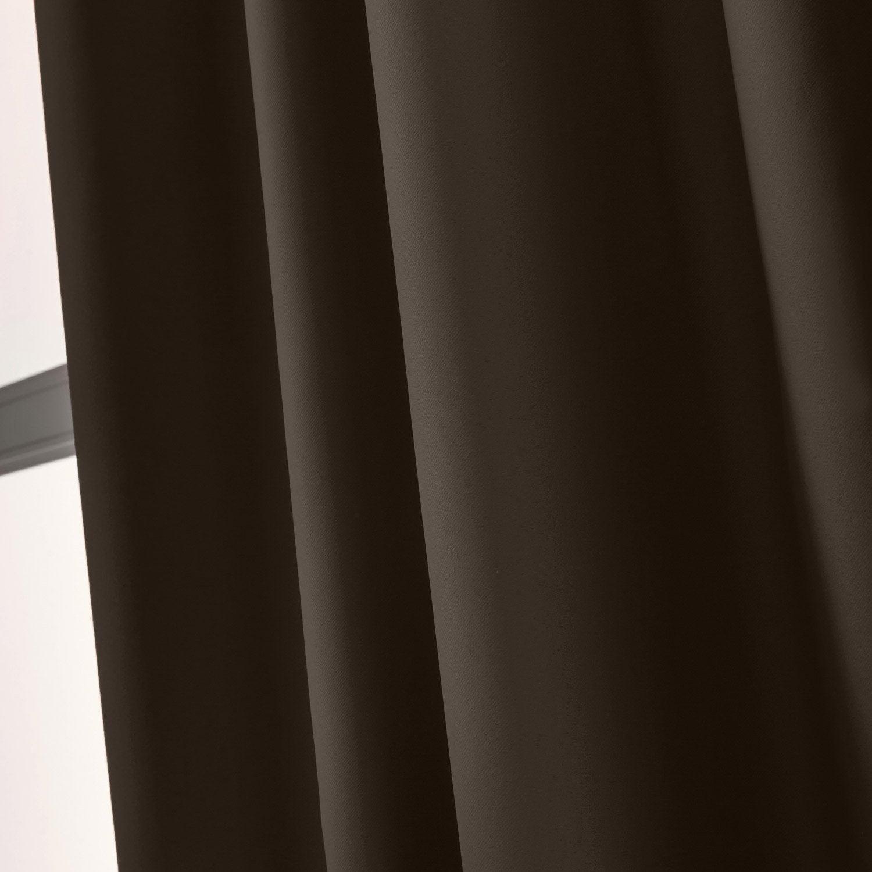 rideau occultant blackout brun chocolat n 1 x cm inspire leroy merlin. Black Bedroom Furniture Sets. Home Design Ideas
