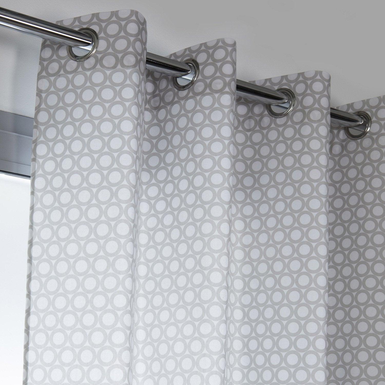 rideau tamisant rolli gris galet n 5 x cm leroy merlin. Black Bedroom Furniture Sets. Home Design Ideas