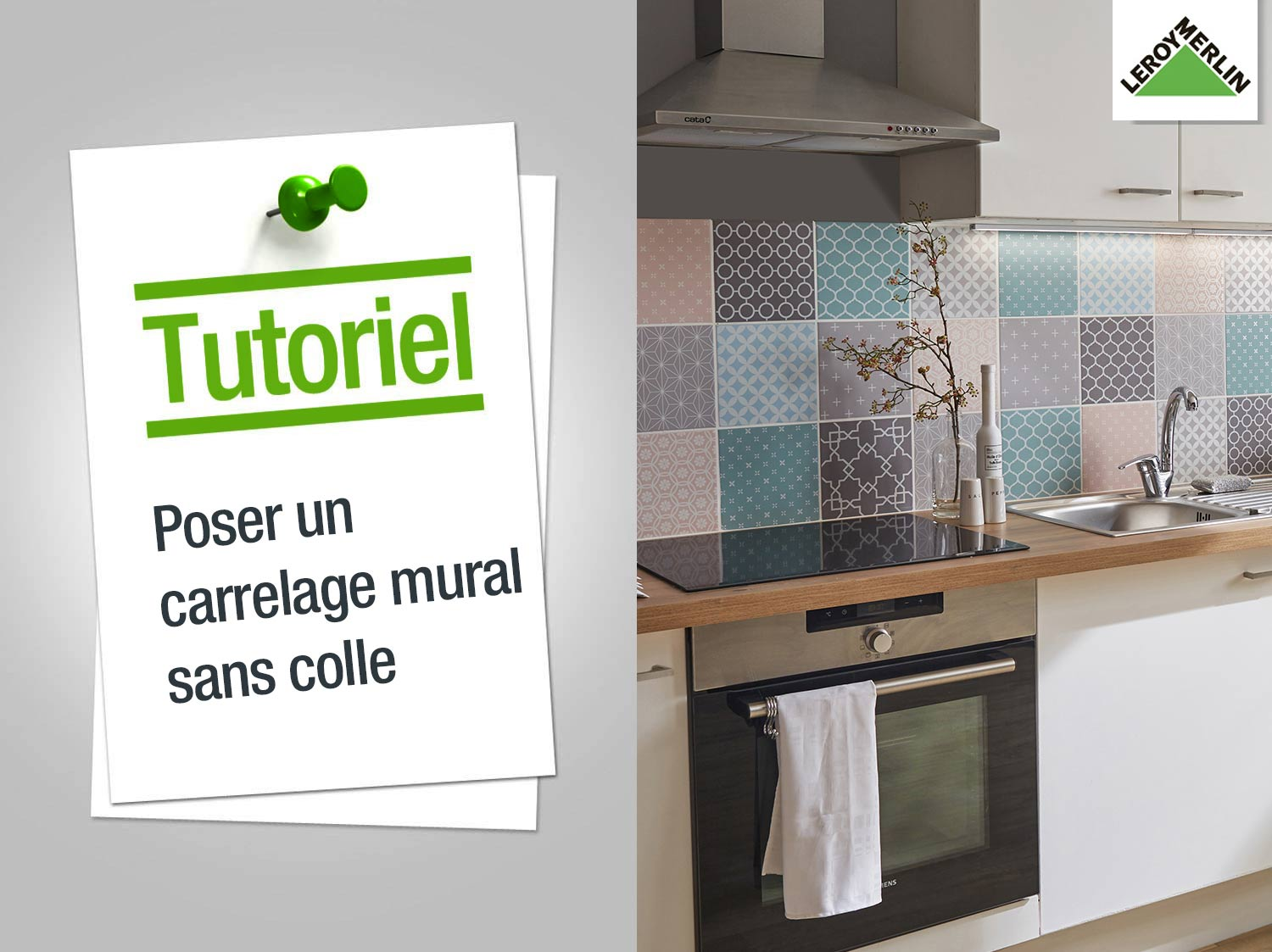 Revetement carrelage cuisine weekend carrellage en - Pose carrelage mural sans joint ...
