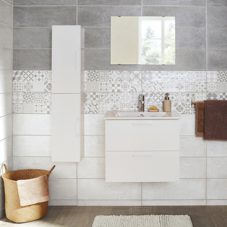 Plan de travail meuble salle de bain beautiful salle de for Meuble salle de bain sur mesure leroy merlin