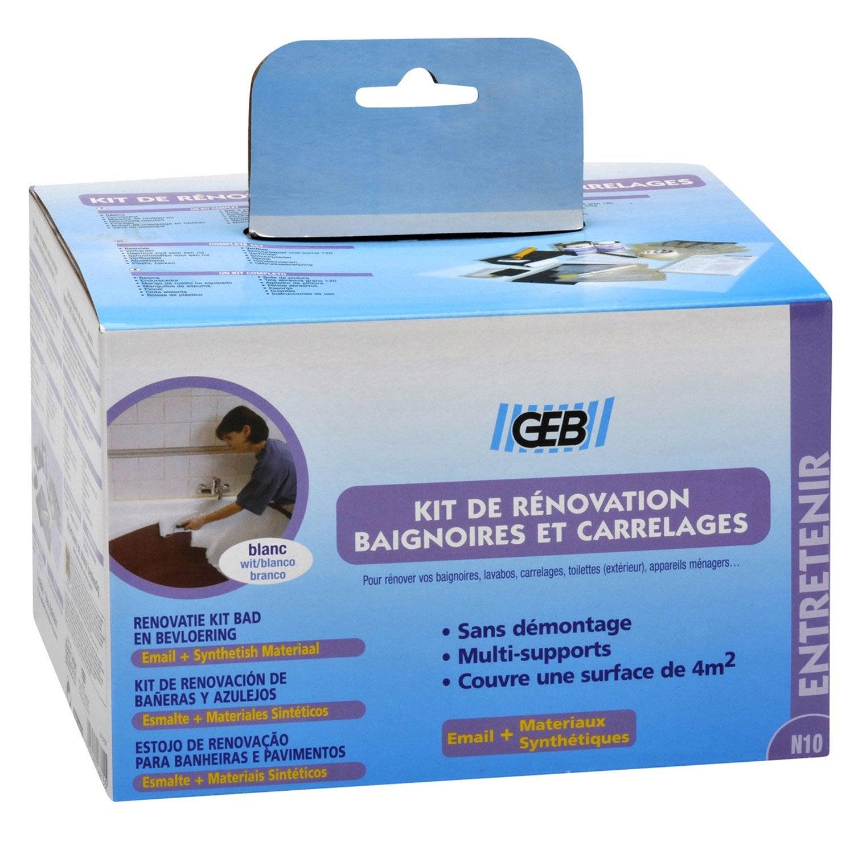 Kit de r novation pour salle de bains blanc geb leroy merlin for Aide de l etat pour renovation
