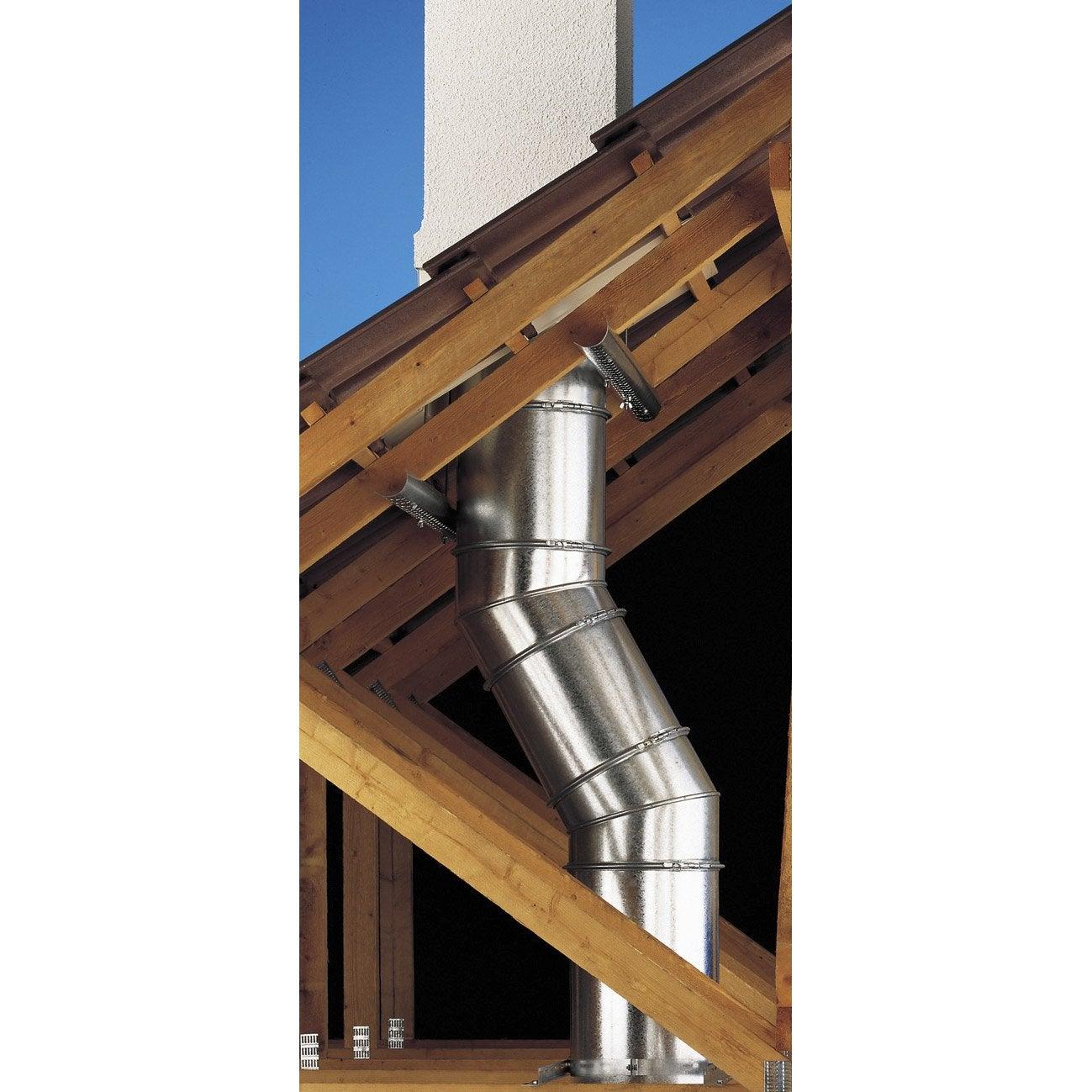 Tuyau pour conduit double paroi poujoulat d230 mm m - Peinture pour hotte de cheminee ...
