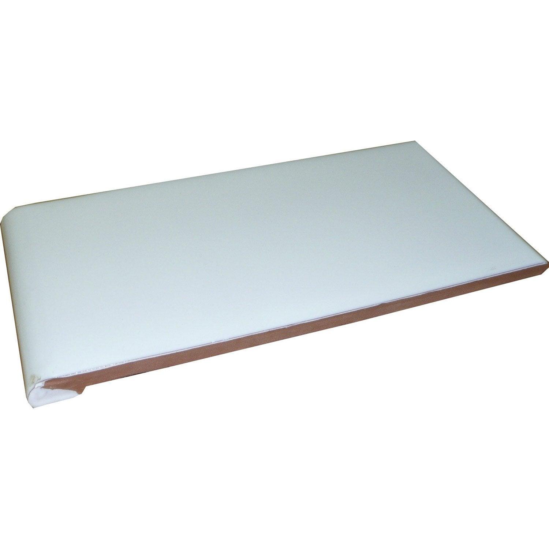 appui de fenêtre blanc l028 x l014 m  leroy merlin