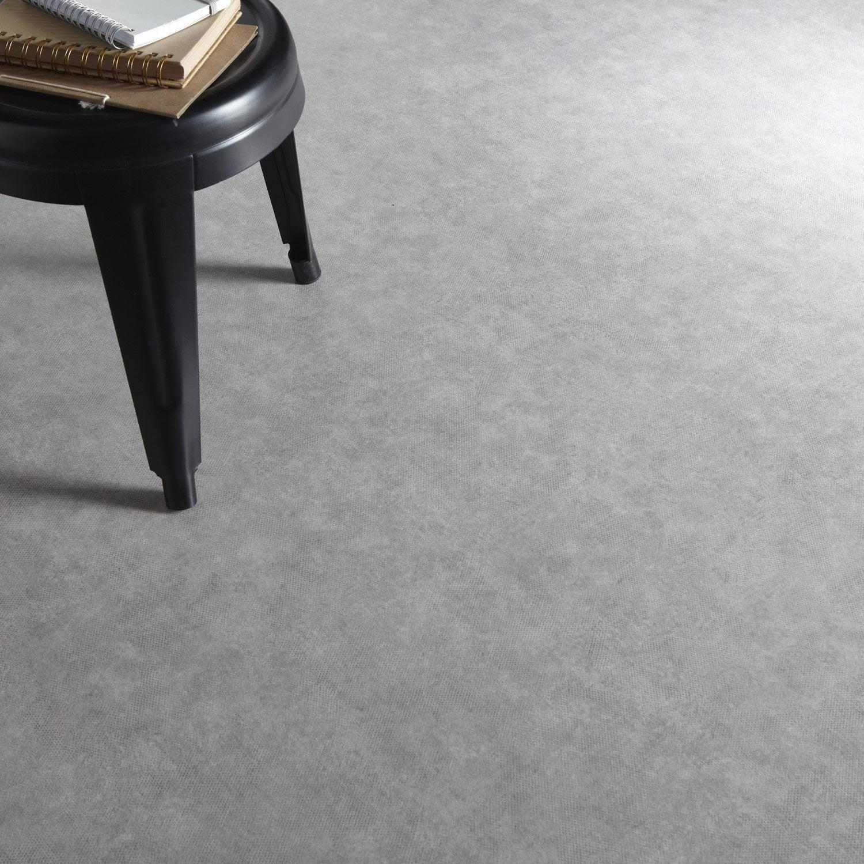 excellent sol pvc gris galet n gris galet artens declic l m leroy merlin with sol plastique. Black Bedroom Furniture Sets. Home Design Ideas