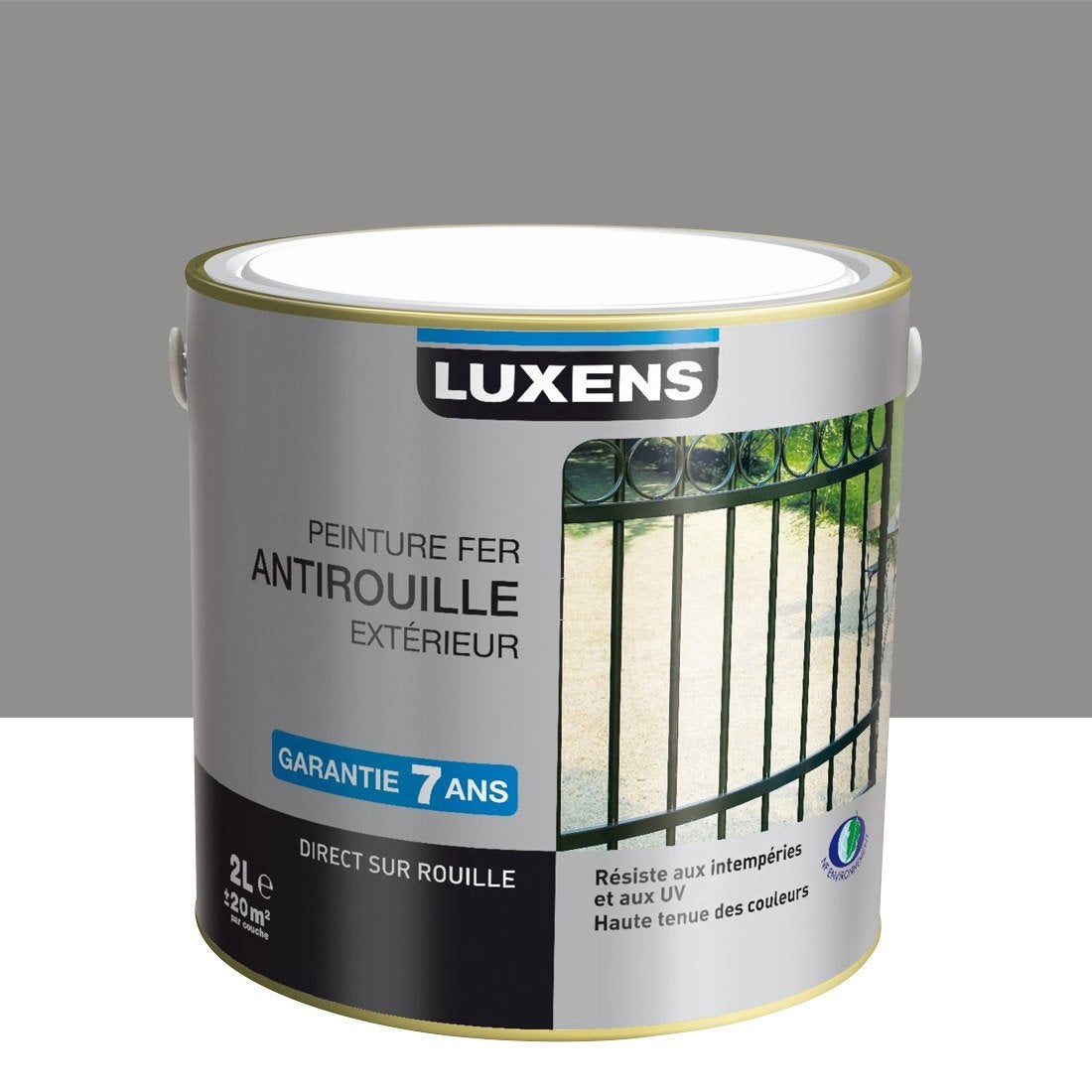 Peinture fer ext rieur antirouille luxens gris galet n 3 2 l leroy merlin - Leroy merlin peinture fer ...