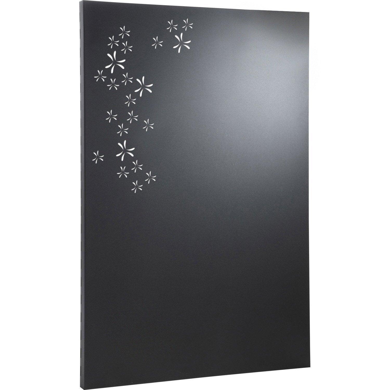 Plaque de protection murale acier laque equation petale noir sable l80xh120cm.jpg