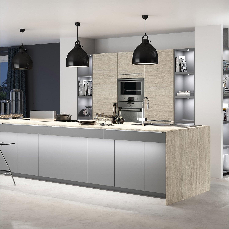 Meuble Colonne Cuisine Leroy Merlin meuble de cuisine bas d 39 angle gris 1 porte d lice x l