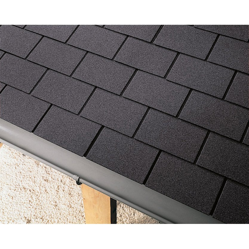 bardeau imitation ardoise bitumée noir iko easy shingle l.0.336 x