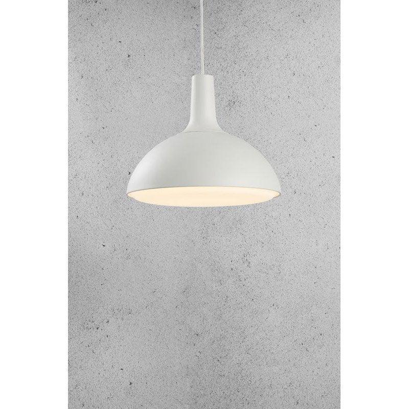 Suspension design dee m tal blanc 1 x 15 w leroy merlin - Suspension metal blanc ...