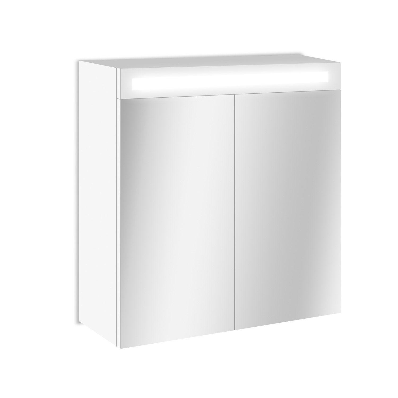 Fotos  Armoire De Toilette Lumineuse Rubin 60x51x16 Cm